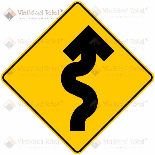Señal Preventiva SP-10 Zona de Curvas