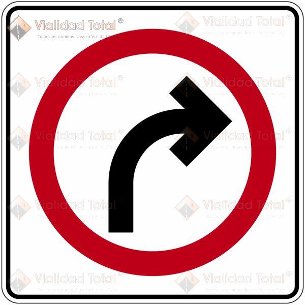 Señal Restrictiva SR-10 Vuelta Continua Derecha