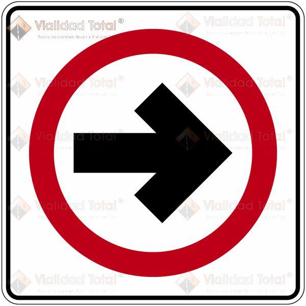 Señal Restrictiva SR-11 Circulación en Intersecciones