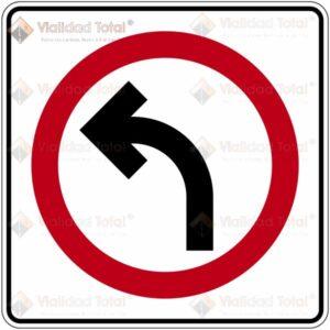 Señal Restrictiva SR-12 Sólo Vuelta Izquierda
