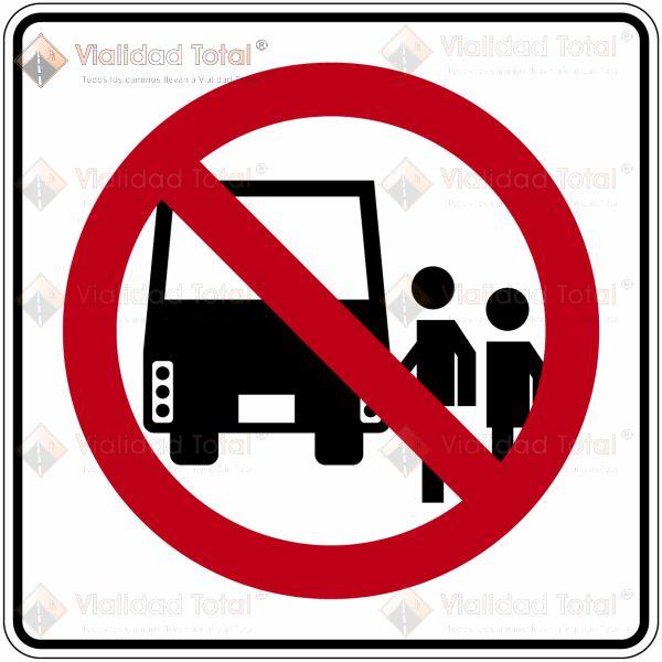 Señal Restrictiva SR-19 Parada Prohibida