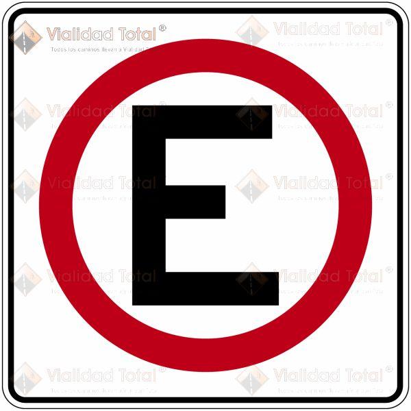 Señal Restrictiva SR-21 Estacionamiento Permitido