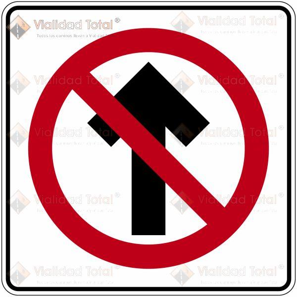 Señal Restrictiva SR-26 Prohibido Circular de Frente