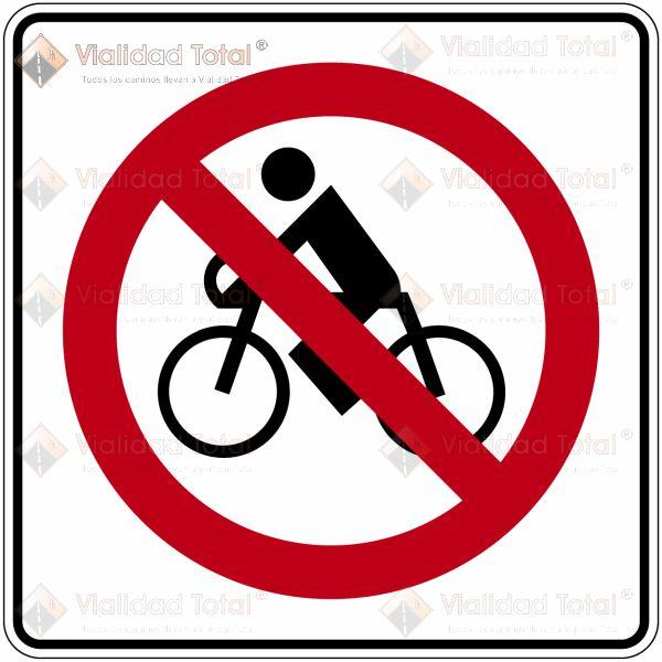 SR-30 Prohibida la Circulación de Bicicletas