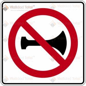 Señal Restrictiva SR-33 Prohíbido el Uso de Señales Acústicas